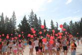Suelta de globos en homenaje a los donantes de sangre de Puerto Lumbreras