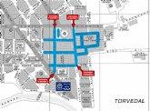 Amplían diversos tramos de las calles del mercado semanal de Cieza