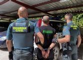 La Guardia Civil detiene a una persona dedicada a cometer atracos en Cieza