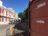 Arrancan las obras de acondicionamiento de las aceras en la calle Juan XXIII