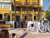 El presidente de la Asamblea, en los actos con motivo de la patrona de la Armada