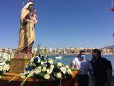 Antonio Luengo participa en la procesi�n mar�tima de la Virgen del Carmen de Mazarr�n