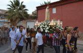 La procesión de la patrona da por concluidas las Fiestas del barrio torreño de Los Pulpites