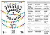 Continúa el calendario de festejos en barrios y pedanías de Totana programado para este verano 2016