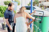 Estrella de Levante y el Ayuntamiento instalan 7 compactadoras de latas de bebida