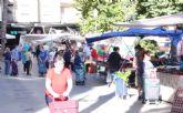 El Mercado Semanal del Parque de la Compañía de Molina de Segura no se adelanta este año al viernes y se mantiene el sábado 19 de septiembre