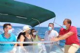 Reverte y el consejero Luengo realizan una visita para comprobar sobre el terreno el proyecto de la Reserva Marina de Interés Pesquero de Cabo Cope