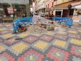 La superficie de la calle Conde de Aranda presenta hundimientos en diferentes puntos