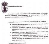 Nota de prensa conjunta de los grupos de la oposición en relación a La Bastida