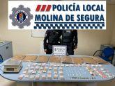 La Policía Local de Molina de Segura detiene al regente de una tienda por tráfico de drogas y contrabando de tabaco