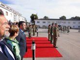 El alcalde de Alcantarilla asiste al relevo de coronel jefe, en el Regimiento de Infantería 'Zaragoza' 5 de Paracaidistas