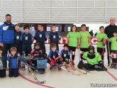 El equipo Benjamín del Club Hockey Patines de Totana, en la Liga de la Federación Valenciana