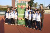 Once atletas del Club Atletismo Alhama con la Selección Regional