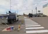 Comienza el repintado de los pasos de peatones para mejorar la seguridad ciudadana