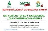 La Comunidad de Regantes de Totana se suma a la manifestación del próximo 21 de febrero en Murcia