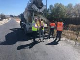 Continúan los trabajos para la mejora de la seguridad vial de la carretera que une Lorquí con la antigua estación de ferrocarril