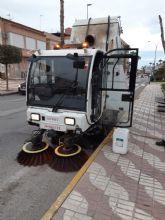 Puerto Lumbreras lleva a cabo un plan de desinfección y limpieza en la vía pública ante el coronavirus