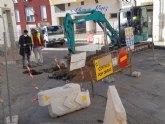 Infraestructuras ha comenzado esta semana las obras de renovación de las redes de agua potable y alcantarillado en la calle Gregorio Cebrián
