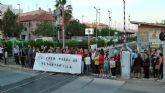 El PCE en  la Región de Murcia muestra su insatisfacción ante el paso del tren por el Barrio de Las Tejeras de Alcantarilla