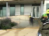 Brigadas Forestales se desplazan a Torre Pacheco para realizar labores de limpieza y desinfección