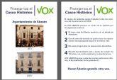 VOX Abarán se opone al traslado del actual edificio del Ayuntamiento al centro de usos múltiples