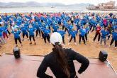 500 mayores se dan cita en Puerto de Mazarrón para participar en un encuentro de gerontogimnasia