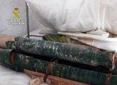 La Guardia Civil retira y destruye tres artefactos pirotécnicos hallados en una finca  de Yecla