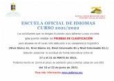 Abierto el plazo de solicitud de las pruebas de clasificaci�n de la Escuela Oficial de Idiomas