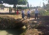 Cultura comenzará tras el verano las obras para recuperar el Puente de las Pilas de Alcantarilla