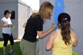 El parque de Los Pulpites luce un colorido mural pintado por pequeños y mayores