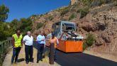 Finaliza el asfaltado de la vía alternativa de acceso al Castillo de Lorca