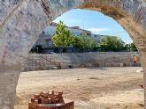 Recta final de la primera fase de las obras de acondicionamiento del entorno del Acueducto