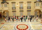 Nés Ruiz Martínez, alumna del CEIP San José Obrero de Cieza, recibida por don Felipe en el Palacio Real de El Pardo