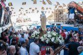 Multitudinario homenaje a la Virgen Marinera en Puerto de Mazarr�n