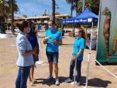 La directora general del Mar Menor, Miriam Pérez presentó en Santiago de la Ribera la campaña de sensibilización 'Mar Menor 2020'