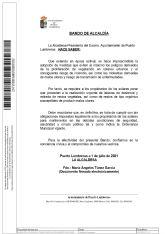 El Ayuntamiento de Puerto Lumbreras emite un Bando de Alcaldía instando a los propietarios de solares a su limpieza para evitar riesgos de incendio y molestias a los vecinos