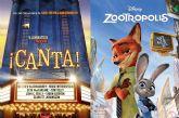 Las películas de animación Canta y Zootrópolis podrán verse este viernes y sábado en el Cine de Verano del Auditorio del Parque de la Compañía