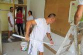 Continúan las obras de mejora en los colegios lumbrerenses de cara a septiembre
