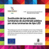 Mejora de la eficiencia energética del alumbrado de Torre Pacheco