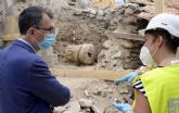 Comienzan los trabajos para la recuperación de la columna romana hallada en Monteagudo