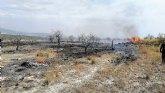 Incendio agrícola en el paraje de Las Pedroñetas en Moratalla