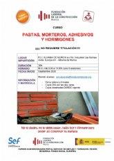 Curso gratuito de pastas, morteros, adhesivos y hormigones en la Fundaci�n Laboral de la Construcci�n