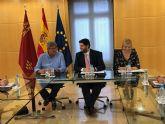 El presidente de la Comunidad se reúne con representantes de la Red de Lucha contra la Pobreza y la Exclusión Social de la Región de Murcia