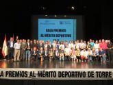Deportistas de Torre Pacheco reciben un reconocimiento en la II Gala del Deporte 'Premios al Mérito Deportivo Torre Pacheco 2017'