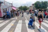 Los puestos de los mercadillos de Cartagena vuelven a sus lugares previos a la pandemia