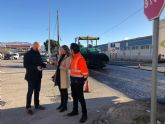 Fomento continúa con las obras de mejora de la seguridad vial del principal acceso de Blanca desde la autovía A-30