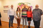 'Arquitecturas aéreas' de Lorenzo Martínez, una exposición que llena de fuerza, vitalidad y dinamismo cromático el aula de cultura de la Fundación Cajamurcia