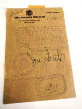 Entregado documento de la Guerra Civil al archivo municipal de Moratalla