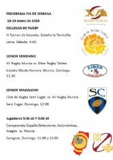 Un fin de semana lleno de actividad para el XV Rugby Murcia