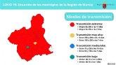 AVANCE: Totana vuelve, junto al resto de municipios de la Regi�n de Murcia -exceptuando Aledo y Librilla- al nivel de alerta sanitaria extrema por COVID-19